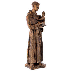 St. Anthony statue in bronzed marble powder composite 60 cm, OUTDOOR s5
