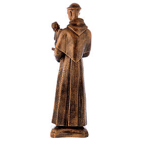 St. Anthony statue in bronzed marble powder composite 60 cm, OUTDOOR s6