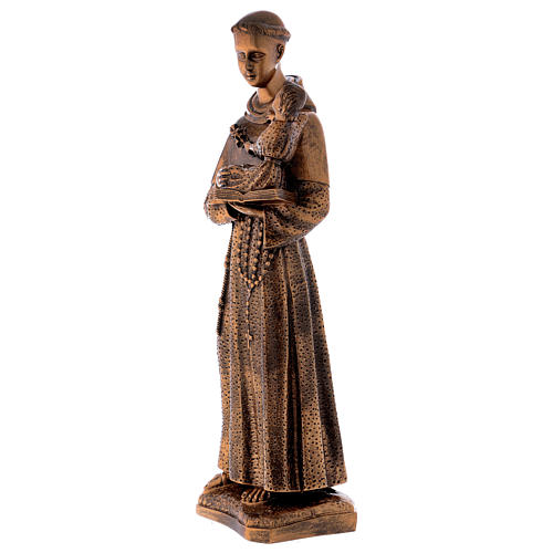 St. Anthony statue in bronzed marble powder composite 60 cm, OUTDOOR 3