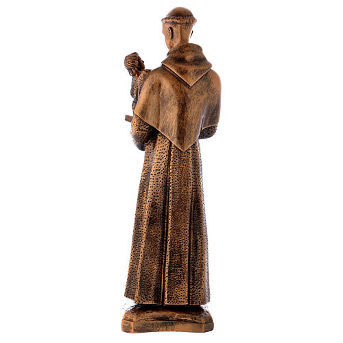 St. Anthony statue in bronzed marble powder composite 60 cm, OUTDOOR 6