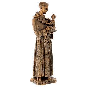 Sant'Antonio da Padova 60 cm bronzato polvere di marmo PER ESTERNO s5