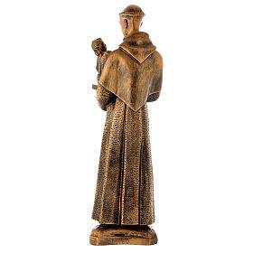 Sant'Antonio da Padova 60 cm bronzato polvere di marmo PER ESTERNO s6