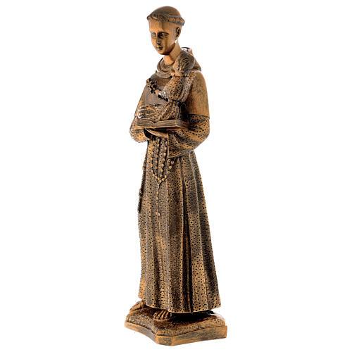 Sant'Antonio da Padova 60 cm bronzato polvere di marmo PER ESTERNO 3