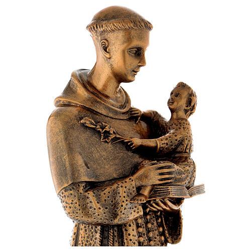 Sant'Antonio da Padova 60 cm bronzato polvere di marmo PER ESTERNO 4