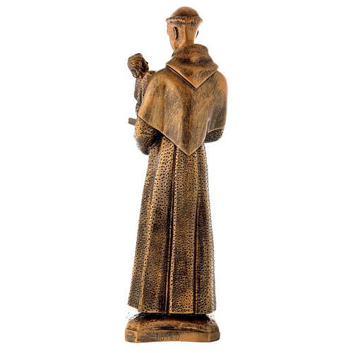 Sant'Antonio da Padova 60 cm bronzato polvere di marmo PER ESTERNO 6