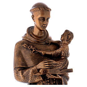 Saint Anthony of Padua 60 cm, bronzed marble dust FOR OUTDOORS s2