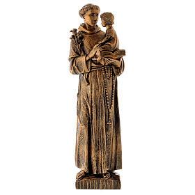 Estatua San Antonio 65 cm polvo de mármol bronceadaPARA EXTERIOR