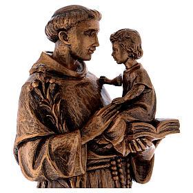 Statua Sant'Antonio 65 cm polvere di marmo bronzata PER ESTERNO s4