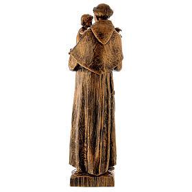 Statua Sant'Antonio 65 cm polvere di marmo bronzata PER ESTERNO s6