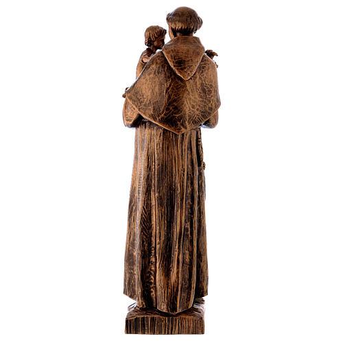 Statua Sant'Antonio 65 cm polvere di marmo bronzata PER ESTERNO 6