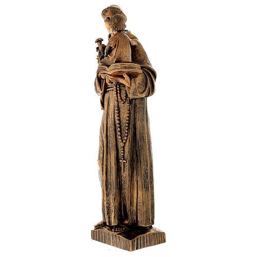 Statua Sant'Antonio 65 cm polvere di marmo bronzata PER ESTERNO 5