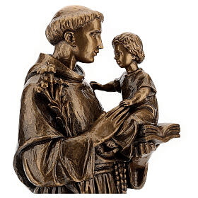 St Anthony statue, 65 cm marble dust bronzed FOR OUTDOORS s2