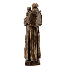 St Anthony statue, 65 cm marble dust bronzed FOR OUTDOORS s5