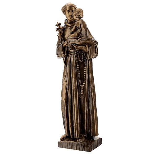 St Anthony statue, 65 cm marble dust bronzed FOR OUTDOORS 3