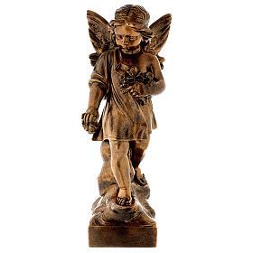 Angelo gettafiori 60 cm polvere marmo bronzata PER ESTERNO s1
