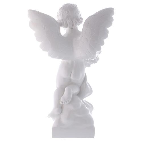 Ange avec rose 60 cm poudre marbre Carrare effet bronze POUR EXTÉRIEUR 5