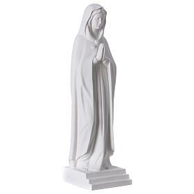 Virgen Rosa Mística 70 cm mármol sintético blanco s4
