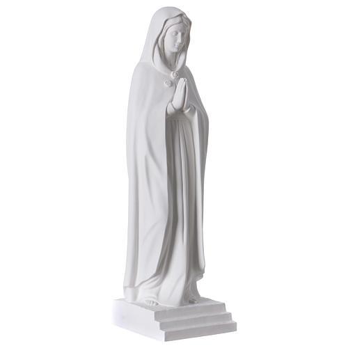 Notre-Dame Rose Mystique 70 cm marbre synthétique blanc 4