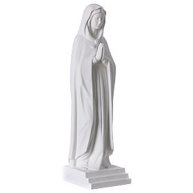 Our Lady Rosa Mystica, 70 cm synthetic white marble s4