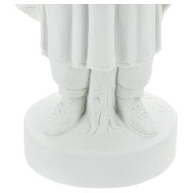 Statue Hl. Kateri Tekakwitha 55cm weissen Kunstmarmor s6