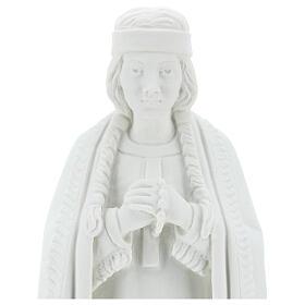 Statue of St. Catherine Tekakwitha 55 cm in white marble powder s2