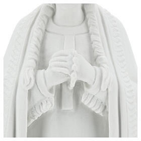 Statue of St. Catherine Tekakwitha 55 cm in white marble powder s4