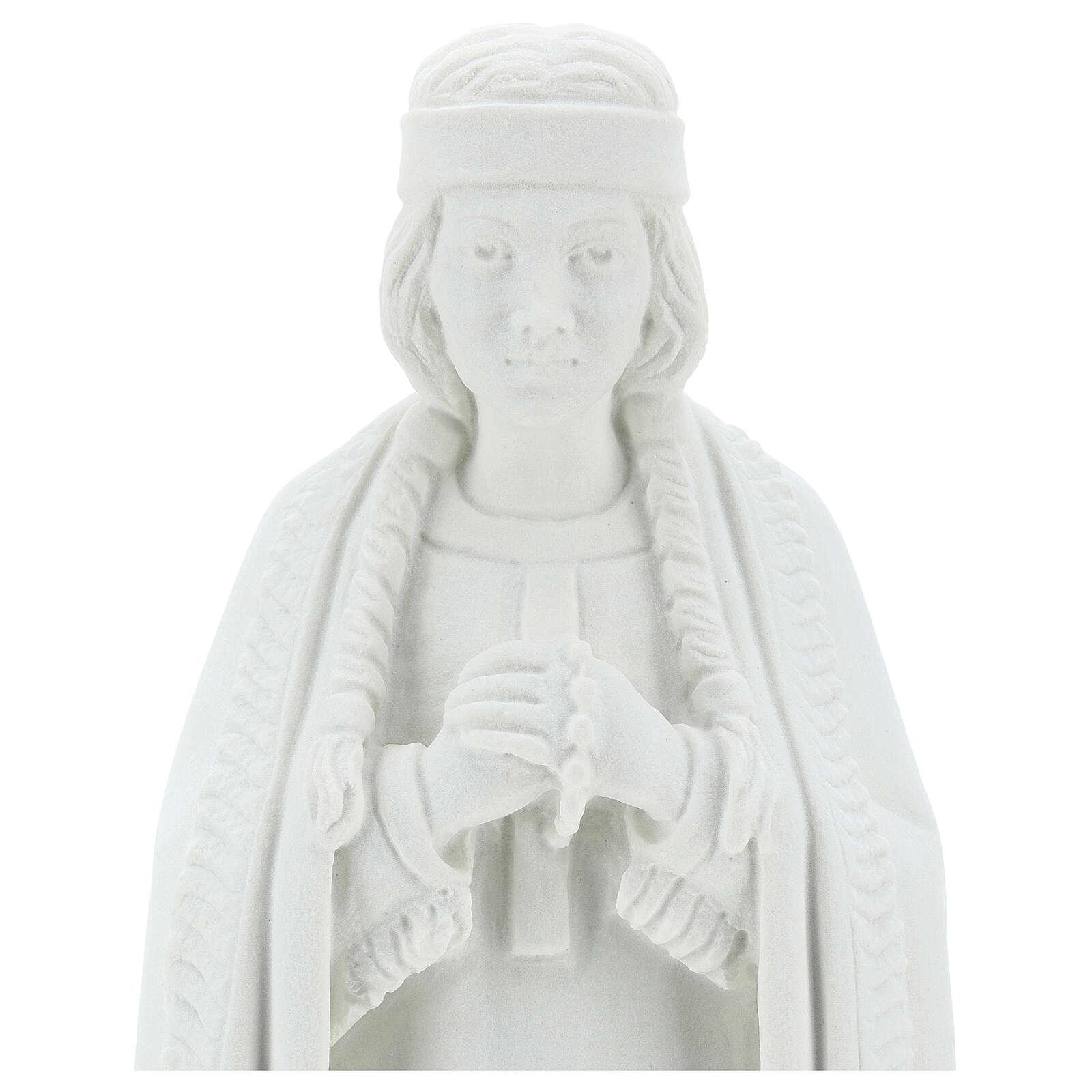 Statue Sainte Kateri Tekakwitha 55 cm poudre marbre blanc 4