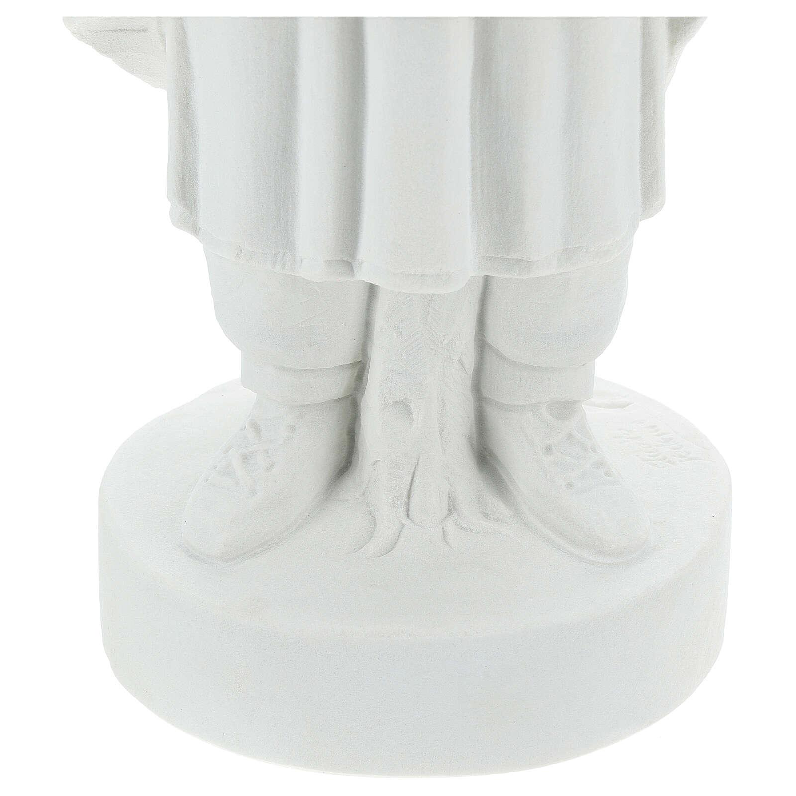 Statua Santa Caterina Tekakwitha 55 cm polvere marmo bianco 4