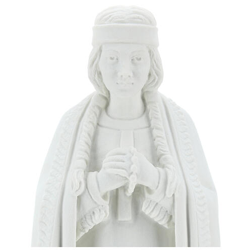 Statua Santa Caterina Tekakwitha 55 cm polvere marmo bianco 2