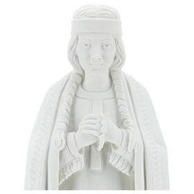 Imagem Santa Kateri Tekakwitha 55 cm pó mármore branco s2