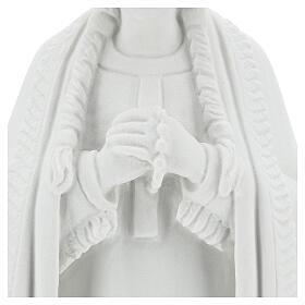 Imagem Santa Kateri Tekakwitha 55 cm pó mármore branco s4
