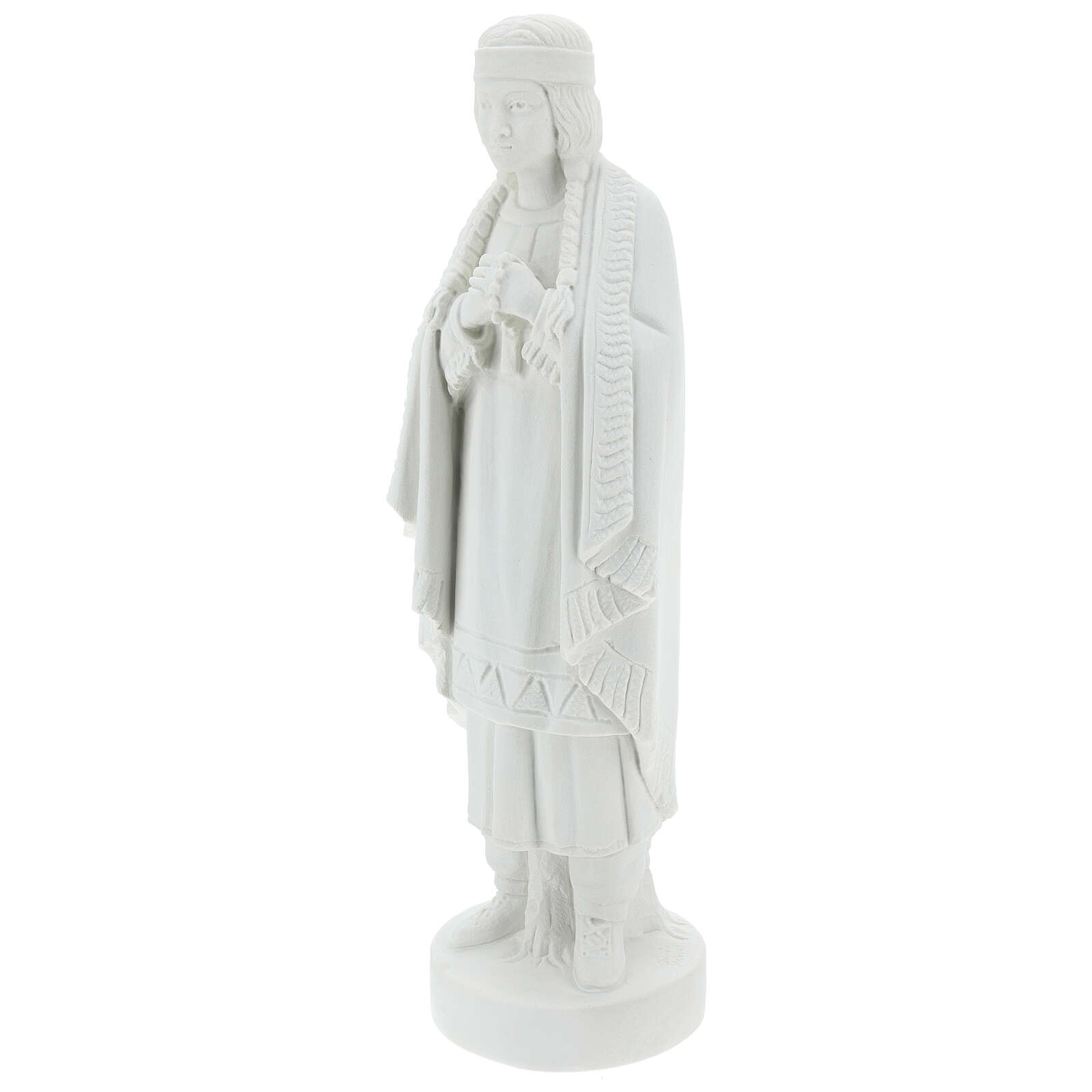 St Kateri Tekakwitha statue 55 cm in white reconstituted marble 4