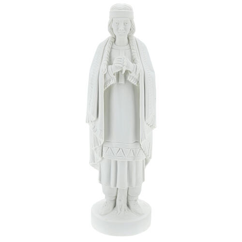 St Kateri Tekakwitha statue 55 cm in white reconstituted marble 1