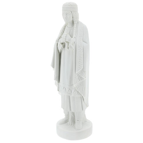 St Kateri Tekakwitha statue 55 cm in white reconstituted marble 3
