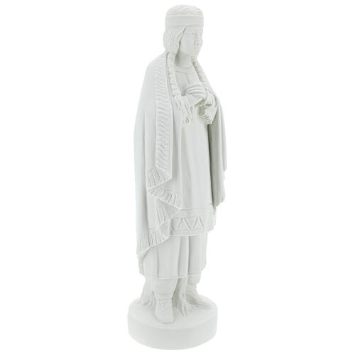 St Kateri Tekakwitha statue 55 cm in white reconstituted marble 5