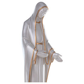 Miraculous Mary statue in reconstituted marble mother of pearl gold decor s4
