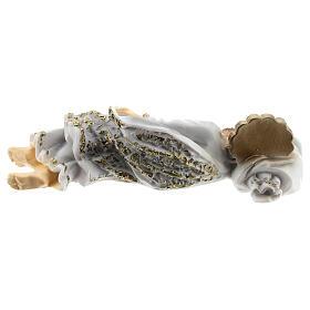 San Giuseppe dormiente veste bianca polvere di marmo 12 cm s4