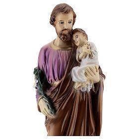 San Giuseppe con Bambino dipinto polvere di marmo 30 cm ESTERNO