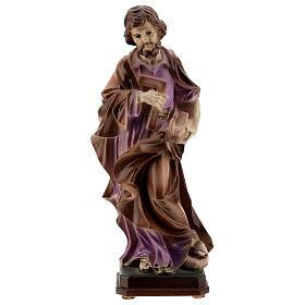 San Giuseppe artigiano polvere di marmo dipinta 20 cm