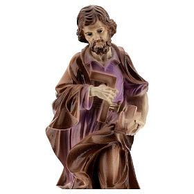 São José trabalhador pó de mármore pintado 19 cm