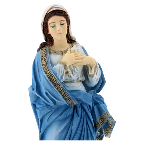 Bemalte unbefleckte Madonna aus Marmorstaub, 30 cm AUßEN
