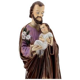 San Giuseppe con Bambino dipinta polvere di marmo 70 cm ESTERNO s4