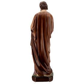San Giuseppe con Bambino dipinta polvere di marmo 70 cm ESTERNO s6