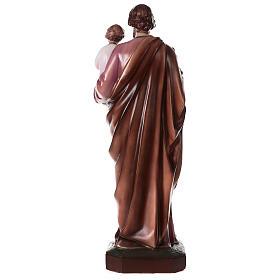 San Giuseppe con Bambino polvere di marmo dipinta 100 cm ESTERNO s7