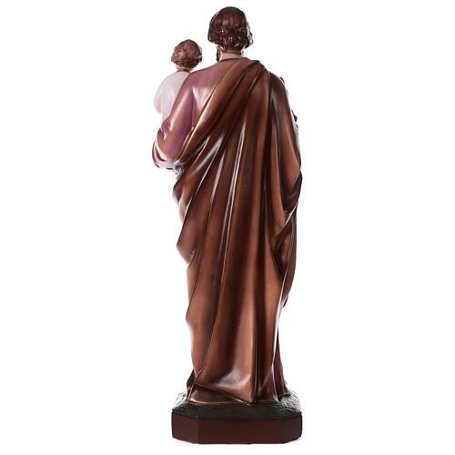San Giuseppe con Bambino polvere di marmo dipinta 100 cm ESTERNO 7