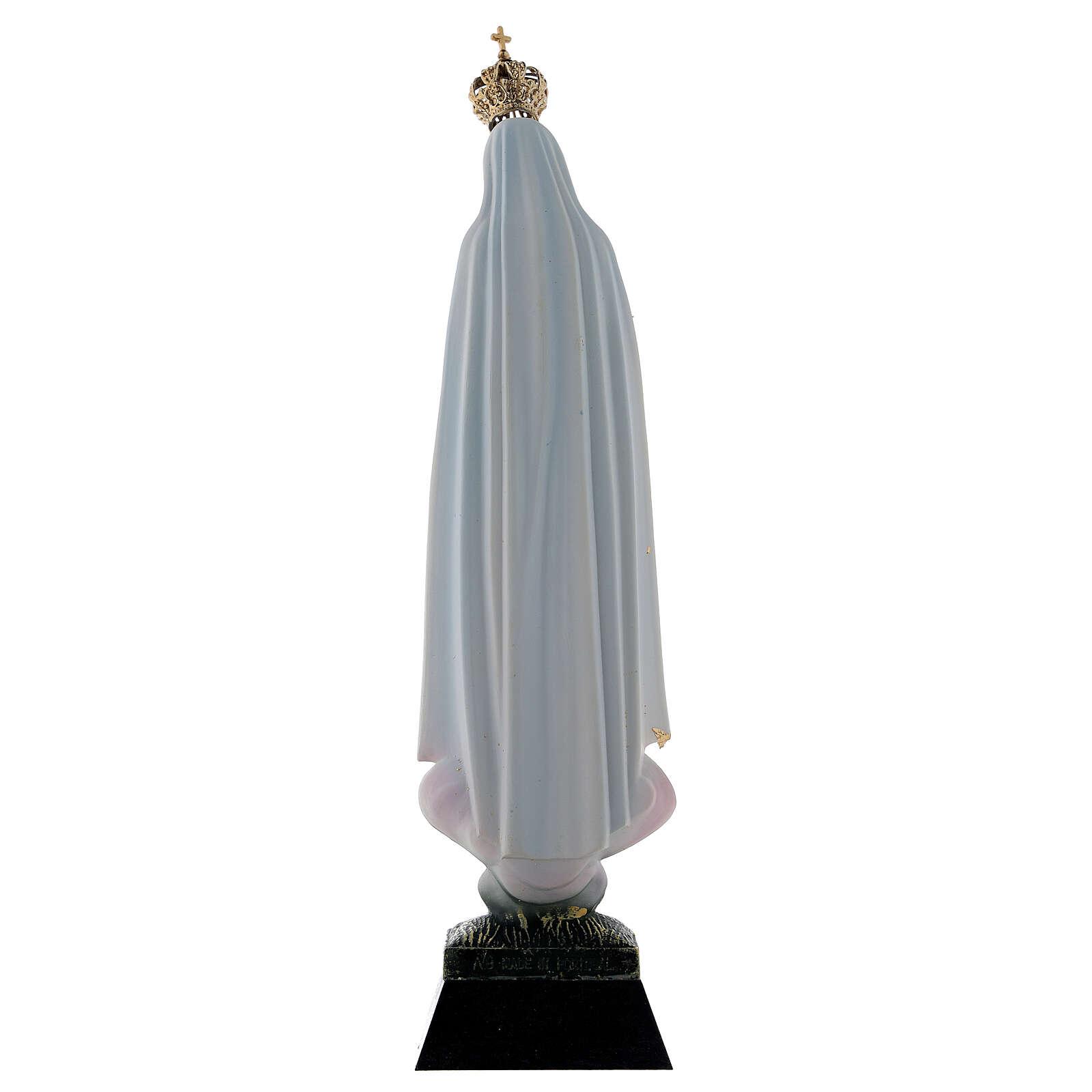 Estatua Virgen de Fátima resina 22 cm. 4