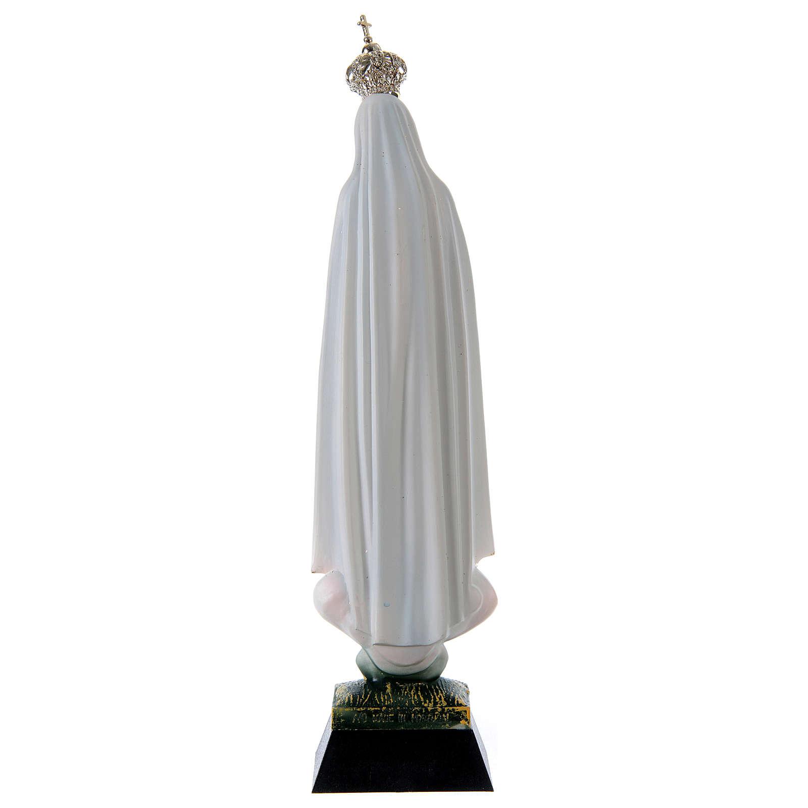 Statua Madonna di Fatima resina strass 22 cm 4