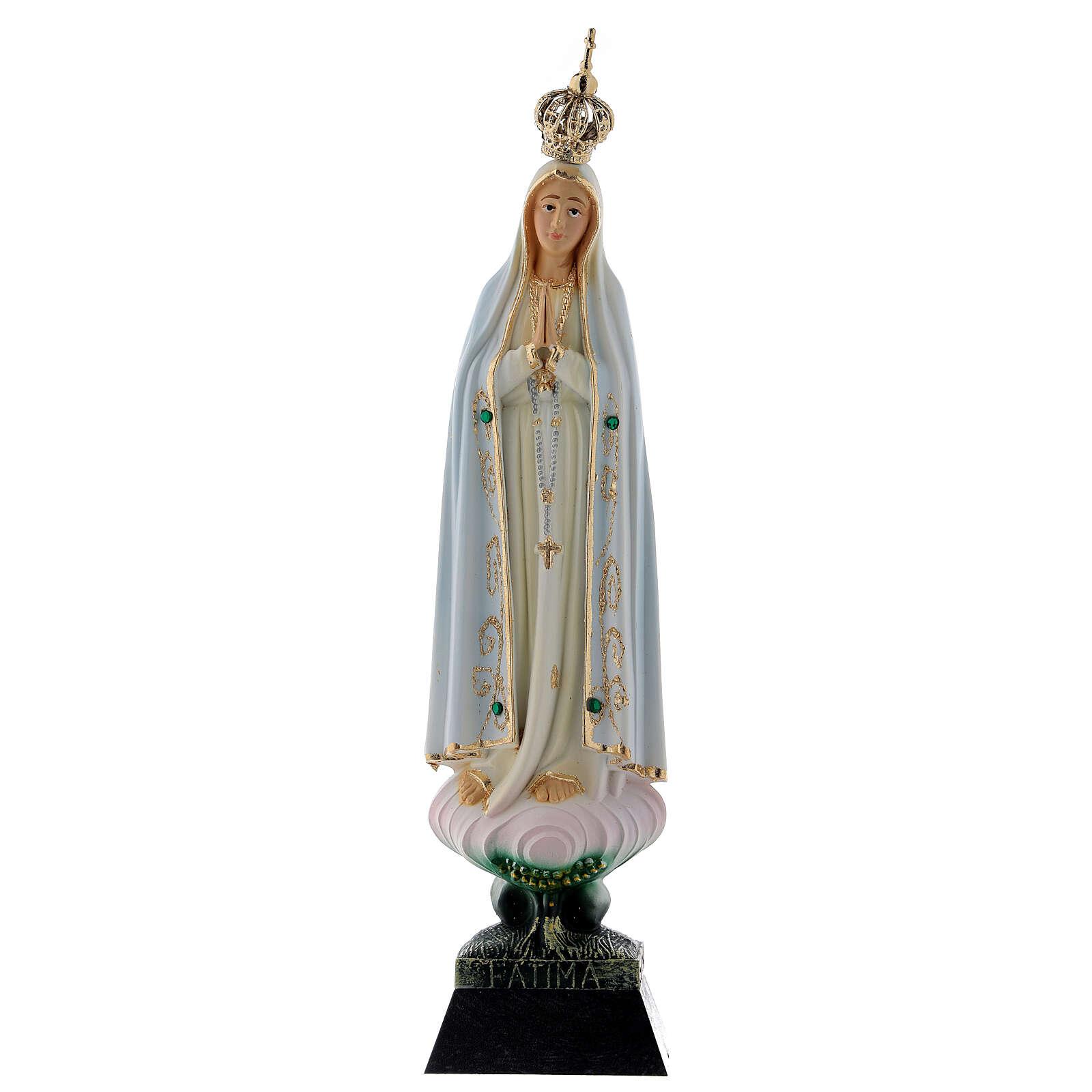 Nossa Senhora de Fátima resina strass 22 cm 4
