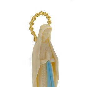 Statue Notre Dame de Lourdes phosphorescente 14 cm s2