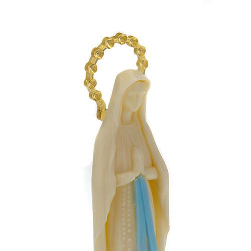 Statua Madonna di Lourdes fosforescente 14 cm 2